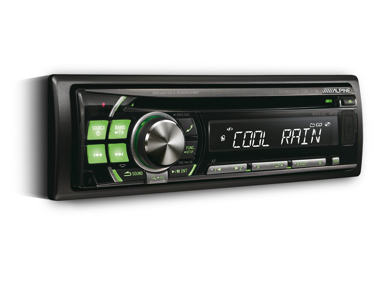 Reglage autoradio alpine cde-111r