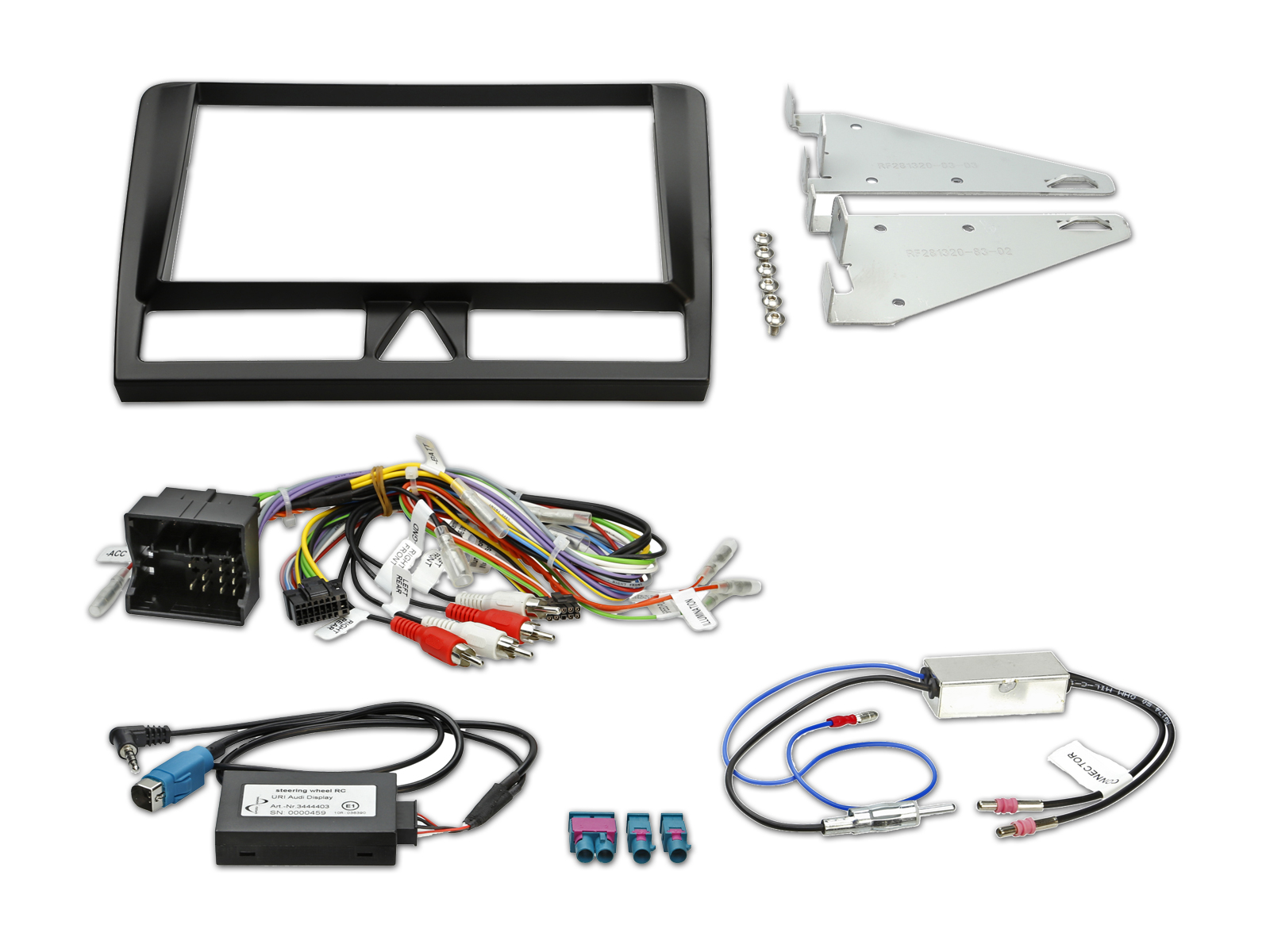Kit d 39 installation pour ine w928r audi a3 alpine kit for Mueble 2 din audi a3
