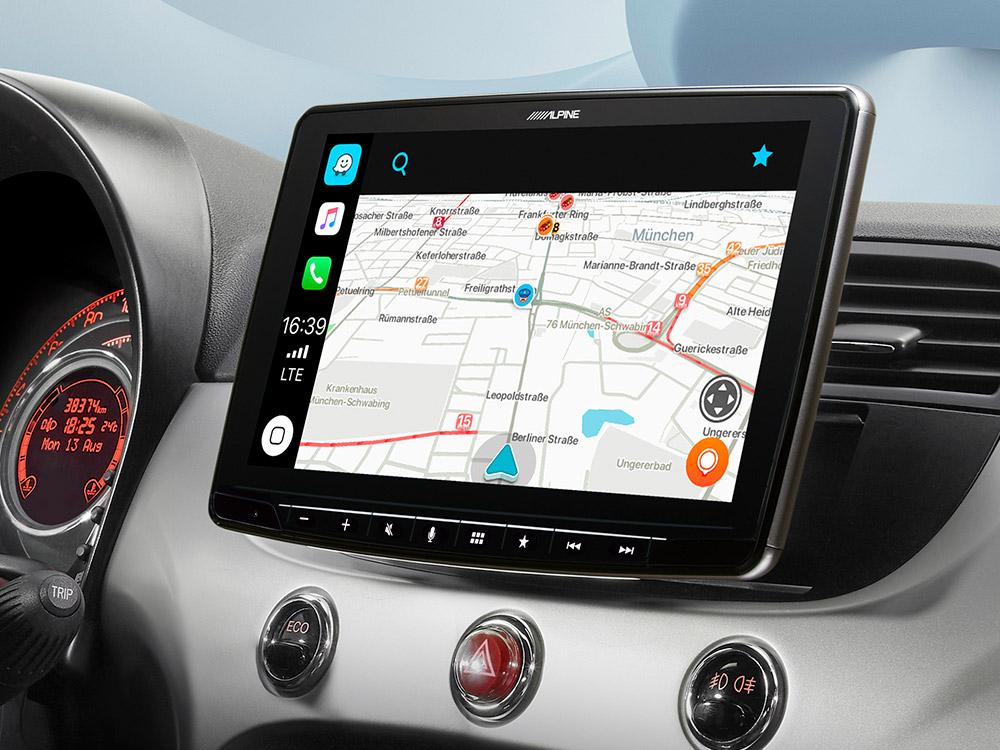 Autoradio Kit de montage 1-din Mercedes a-Classe à Partir De 13 Câble d/'installation Cadre Noir