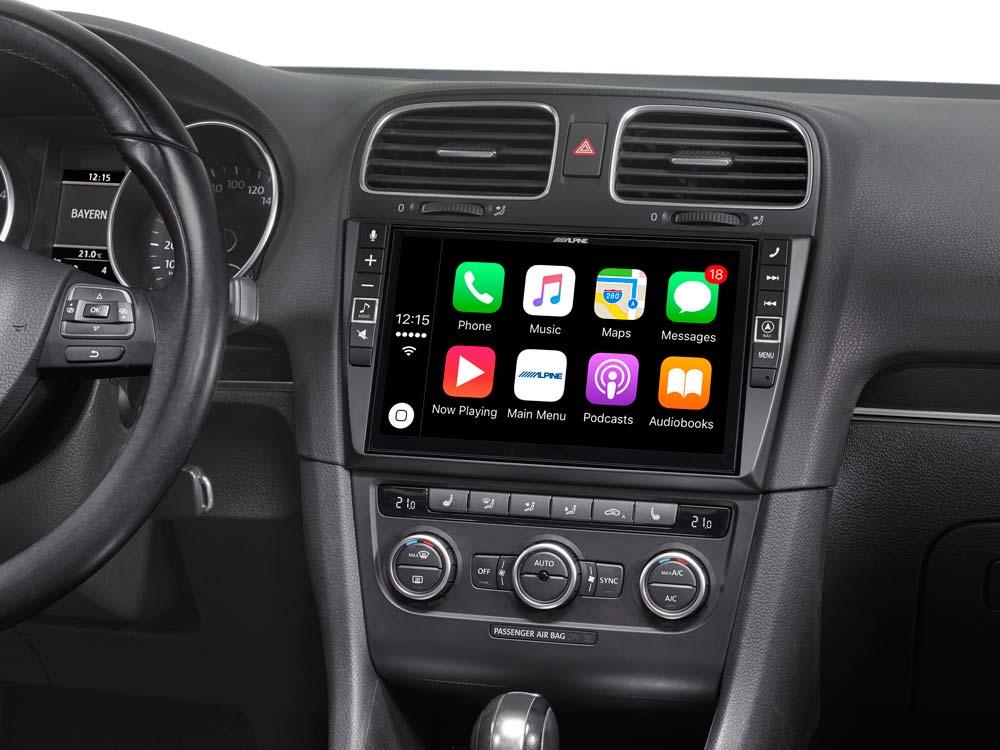 """système multimédia 9"""" pour volkswagen golf 6, compatible apple"""