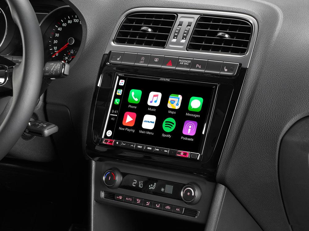 syst me de navigation cran tactile de 8 20cm pour volkswagen polo 5 gti 6c avec cartes. Black Bedroom Furniture Sets. Home Design Ideas