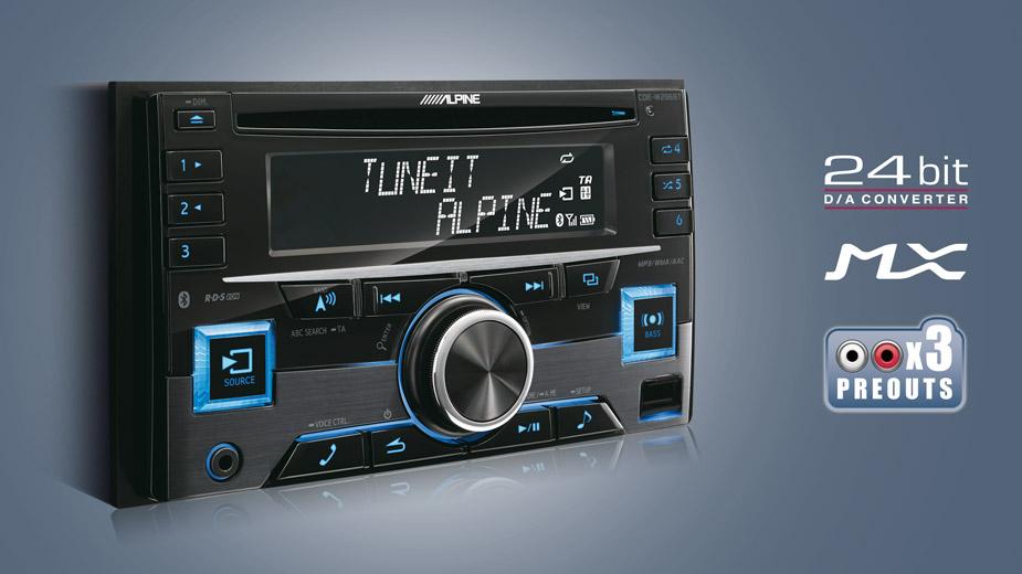 2-din Cd Receiver With Bluetooth - Alpine