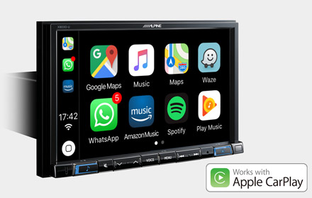 Works with Apple CarPlay - X803D-A3