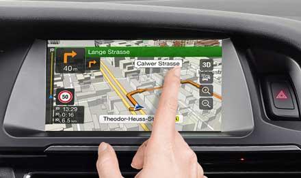 Audi A5: Ecran tactile capacitif haute résolution
