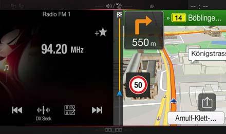 Audi A5 Systèmes-de-navigation: Affichage One Look