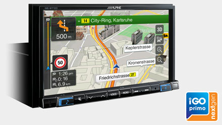 Built-in iGo Primo NextGen Navigation - INE-W710E46