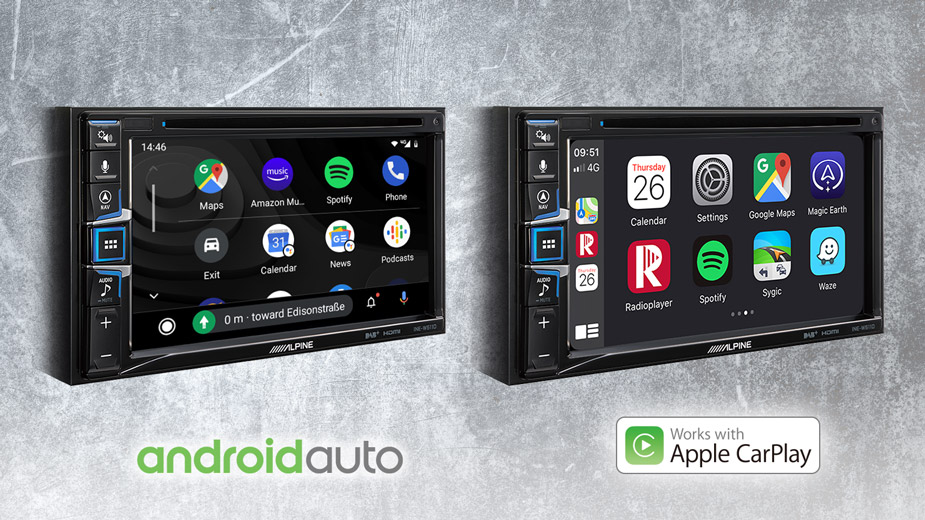 Apple CarPlay & Android Auto Compatibility - INE-W611DU