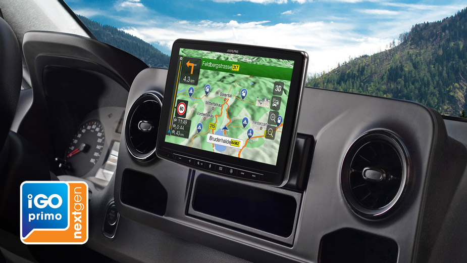Alpine Style Navigation Designed for Mercedes Sprinter - INE-F904S907
