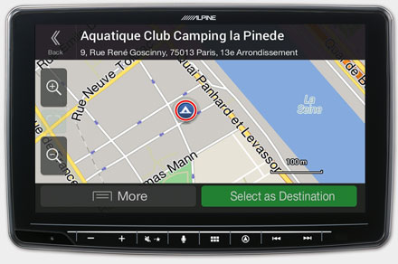 Mercedes Sprinter - Navigation - POI Search & Camping Site Data - INE-F904S907
