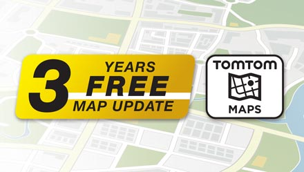 TomTom Maps with 3 Years Free-of-charge updates - INE-W710S453B