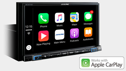 Works with Apple CarPlay - INE-W710S453B