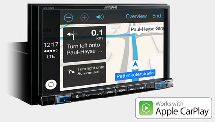 Online Navigation with Apple CarPlay - iLX-702S453B