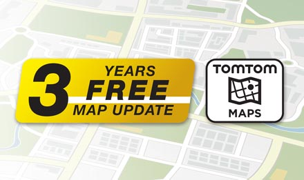 TomTom Maps with 3 Years Free-of-charge updates - X902D-G6